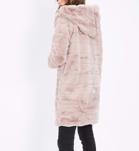 Manteau long doudou rose poudrée @GOLD&SILVER