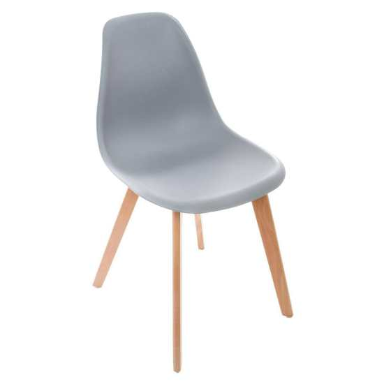 Chaise scandinave grise