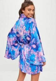 robe de chambre imprimée Galaxy MISSGUIDED